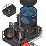 clp self contained wash water recycling system