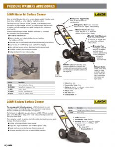 landa pressure washer accessories catalog