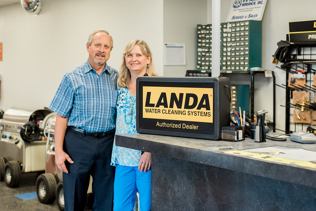 action cleaning equipment owners, joe & julie gandy