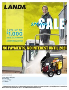 Landa Pressure Washer Spring 2020 Promotional Event Now Until May 2020